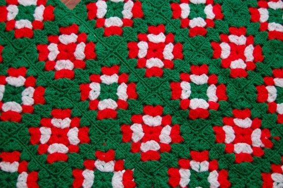 Vintage Granny Square Crochet Christmas Tree by ...