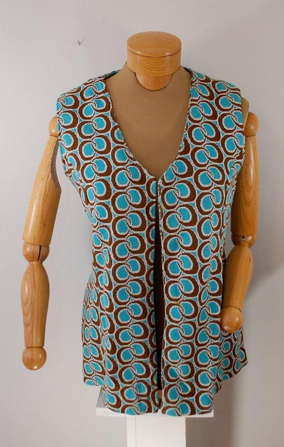 Vintage Handmade Vest and Skort set MOD style size small