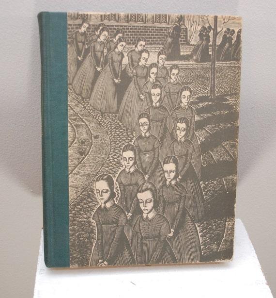 Vintage JANE EYRE hardcover book 1943 illustrated engravings