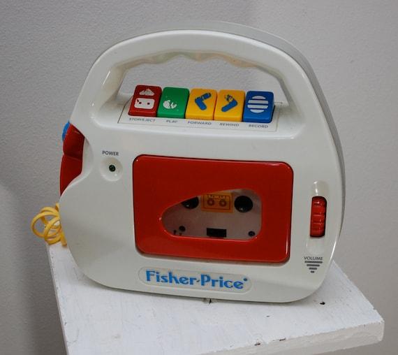 Vintage FISHER PRICE Kids Singalong Tape Recorder works