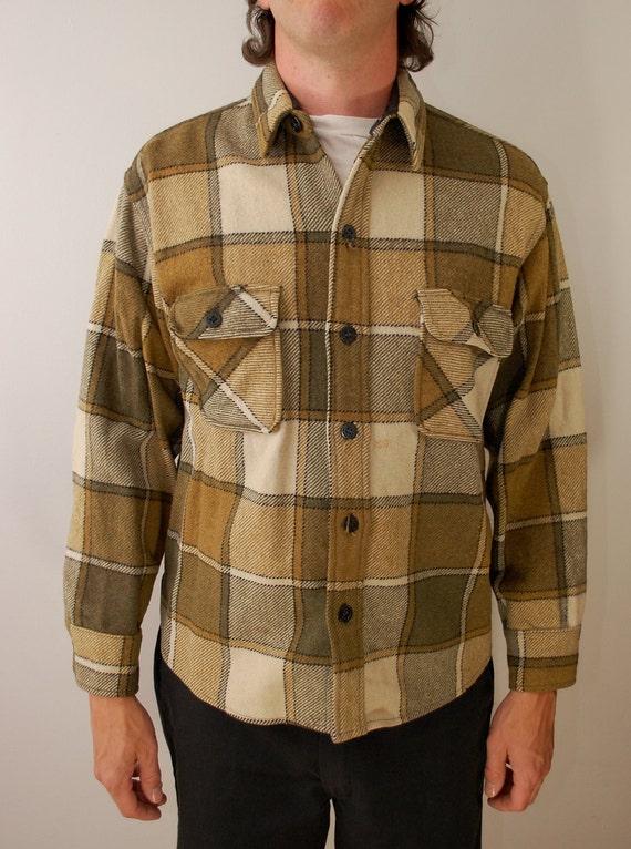 Vintage Penney's TOWNCRAFT plaid wool shirt sz. Large 1960's