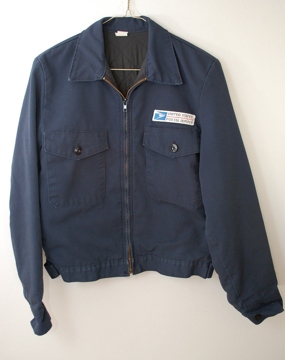 b0b93a60ca Vintage US Postal Service lined jacket coat mens small Made In - photo#25