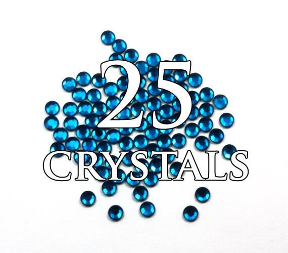 20ss Capri Blue Hot Fix Flat Back Swarovski Crystals - 25 pieces