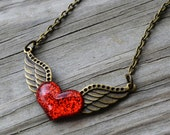 Born To Be Wild Necklace - Heart Necklace