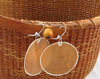 Disco queen - sterling silver giant shell earrings