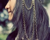 Chain Headdress with Brass wing. . .