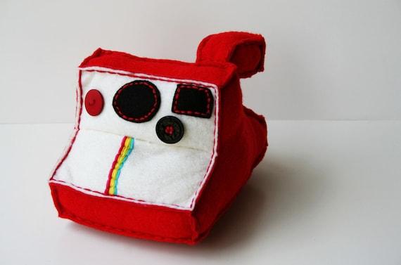 Red Polaroid Plush Camera - Custom for Lisa Paradise