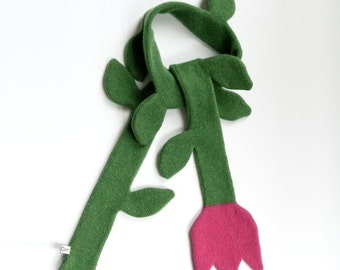 Children's Tulip Lambswool Scarf - Made to order