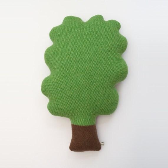 Lambswool Tweed Tree Cushion - Made to order