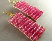 Pink Topaz Earrings - Abacus