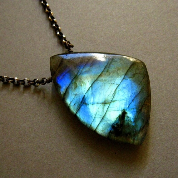 Labradorite and Oxidized Sterling Necklace