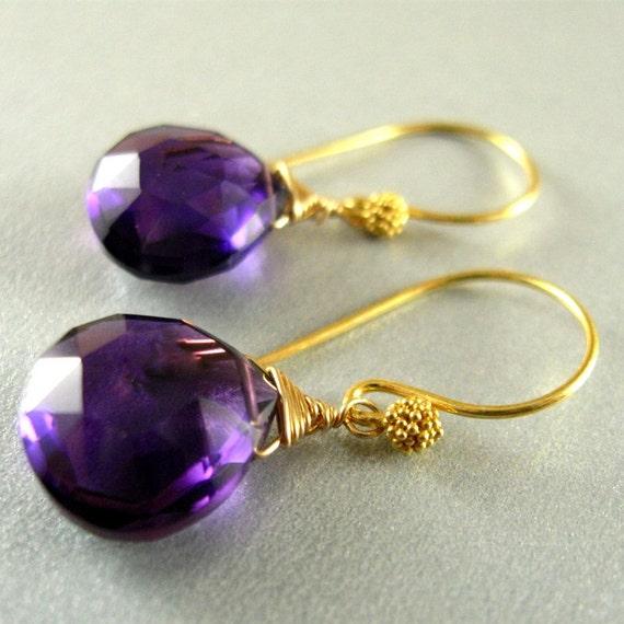 Amethyst Gold Filled Earrings
