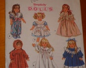 Simplicity Doll pattern fits American Girl- period dresses and more
