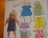 Simplicity Doll pattern fits American Girl- summer wear