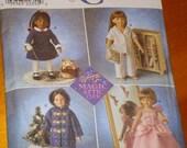 Simplicity Doll pattern fits American Girl, Magic Attic