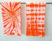 Tie Dye Dishtowels - PICK A COLOR - Tie Dyed Hand Towel - Set of 2