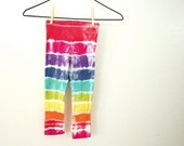 Tie Dye Girls Leggings - Funky Rainbow for Toddlers - Size 4/5 or 5T