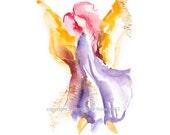 Angel of Grace - Fine art (giclee) print of my original painting