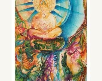 Buddha Nature - fine art (giclee) print of my original painting