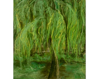 Dreaming Willow - priceless kindness of a tree being - Beautiful fine art (giclee) print of my original painting