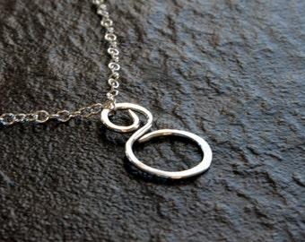 Sterling Silver Elegant Swirl Pendant Necklace