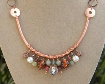 Earth's Splendor - Copper Beaded Necklace