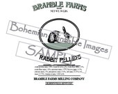 PDF Pattern For Printable Reproduction Feed Sack Image 4 sizes Bramble Farms Rabbit Pellets