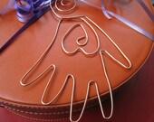 Copper Heart in the Hand Ornament