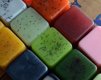 Mini Soaps -  Pick 4 Soap Samples, Handmade Soap, Glycerin Soap