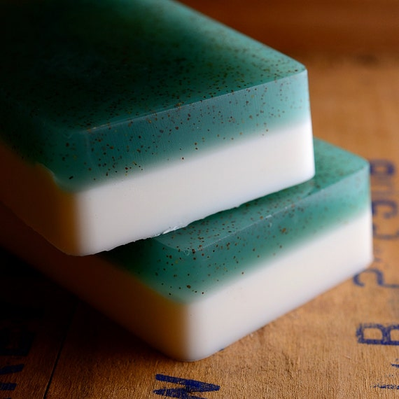 Cedar and Mint Soap with Shea Butter and Apricot Seed