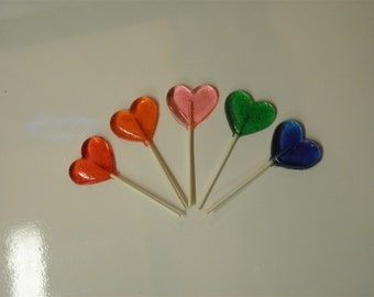 Gourmet Heart Shaped Lollipops 20 count