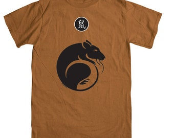 Year of the Rat T-shirt  - Rust Color (size Small)