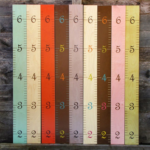 Wooden Ruler Growth Charts