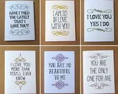 set of valentine cards romantic cards anniversary cards love cards ways to say i love you stationery set valentines day cards letterhappy