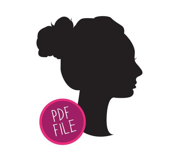 personalized bust silhouette, PRINTABLE PDF custom family portrait, modern home decor, valentine gift, letterhappy