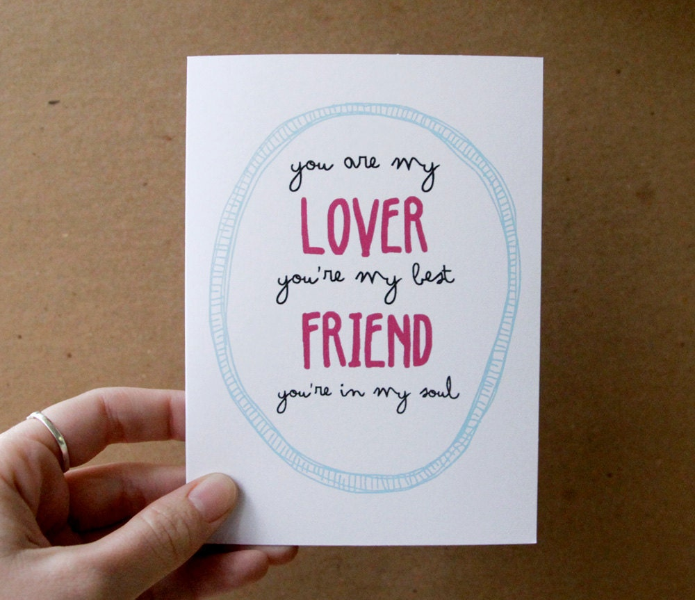 Valentine Card Anniversary Card Romantic Card You Are My Lover