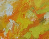 Milton's Paradise GICLEE ART PRINT 11 x 17 abstract landscape golden autumn yellow orange