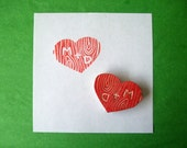 Wooden Heart Personalized Rubber Stamp