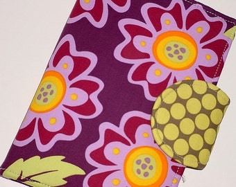 Kindle Nook Nexus Kobo Cover - Purple Flower Retro Heaven eReader Cover