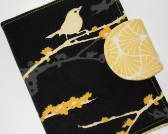 """Mini iPad Cover / Kindle Fire HD 7 Cover / Kindle Paperwhite Cover / Nook HD 7"""" Cover - Heirloom Dewberry Bird eReader Cover"""