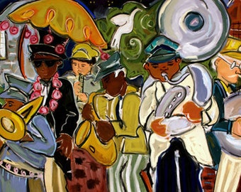 """Jazz March 11x14"""" Giclee Reproduction"""