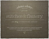 Etsy Shop Banner & Storefront Graphics Set: Stitches and Flattery