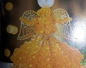 gold safety pin angel ornament