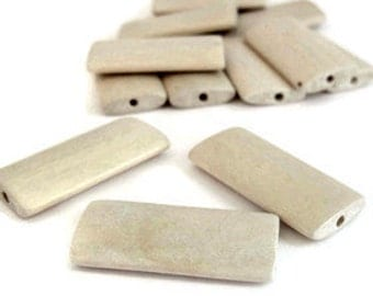 Wooden Rectangle Beads x 10. SALE Contact us if you would like other quantities.