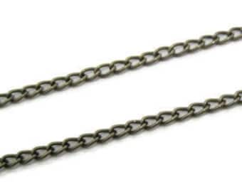 Antique Bronze Tone Large Twisted Oval Link Chain - 100cm - Contact us for other quantities..