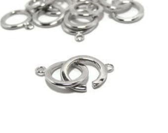 5 Sets of  Round Silver Colour Round Toggle Clasps.  16mm Contact us for other quantities.
