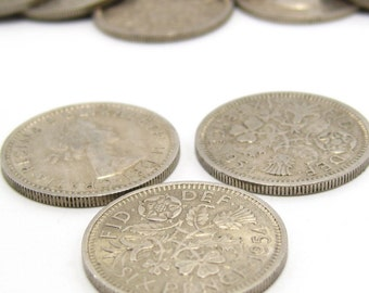 Lucky Sixpence Coins x 10. Pick Your Own Years from 1955 to 1967. Queen Elizabeth II.