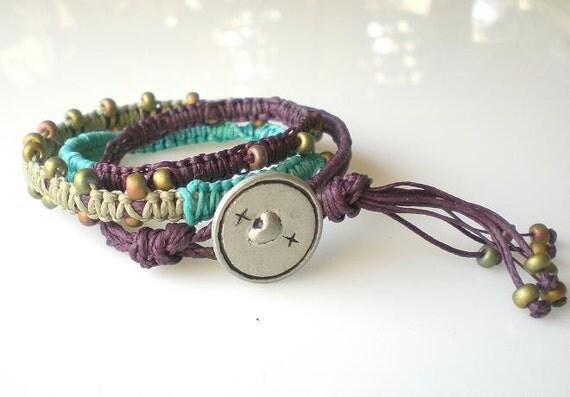 Hippie Jewelry Boho Wrap Bracelet Friendship Bracelet Hippie Boho Fashion Wrap Bracelet Turquoise Purple Bohemian Jewelry Gift For Her