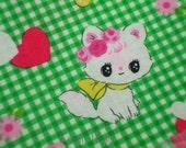 SALE - LECIEN Cats Heart Green - Fat Quarter (11o1030)