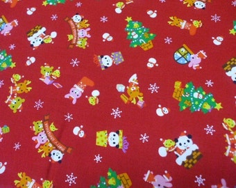 SALE - Christmas Friends Red - Half Yard (i0628)